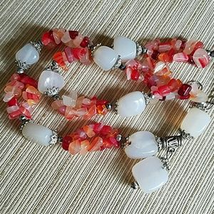 Fire Agate Stones Necklace